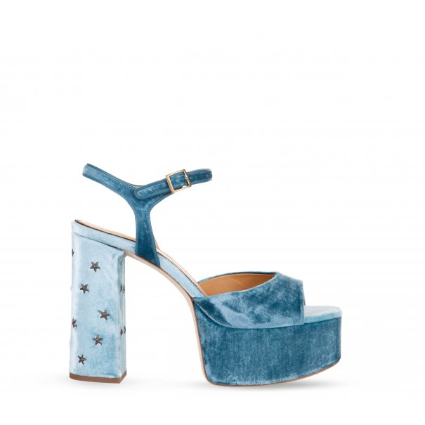 Stand Tall Ankle Strap Platforms with Studs