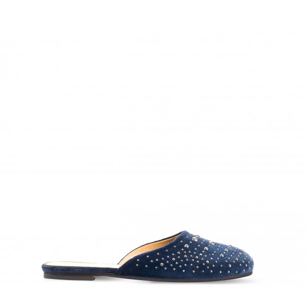 Flat Mule Slides with Studs