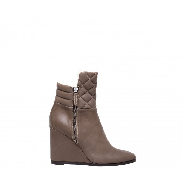 Diamond Quilted Wedge Half Boots