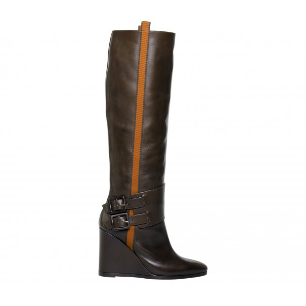 Wedge Riding Boots