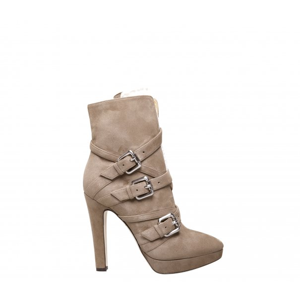 Buckle High Heel Ankle Boots