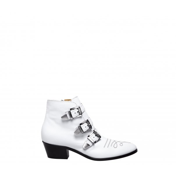 Buckle Leather Booties