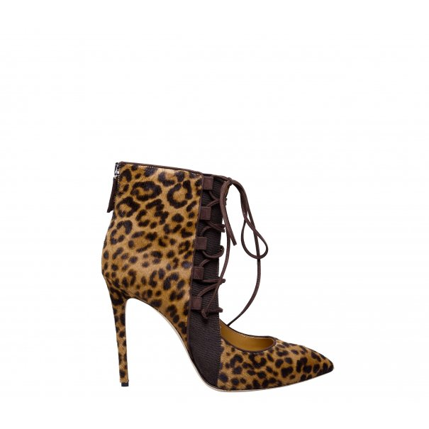 Lace up High Heel Half Boots